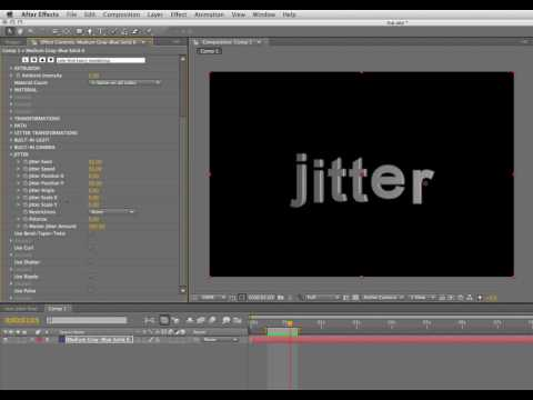 Continuum Complete 6 Text Jitter in Adobe After Effects
