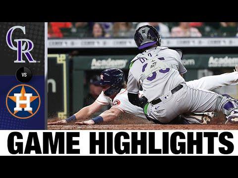 Rockies vs. Astros Game Highlights (8/11/21)   MLB Highlights