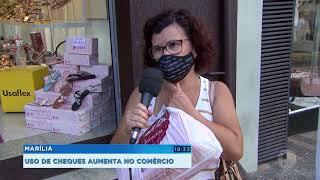 Comerciantes de Marília notam aumento na emissão de cheques