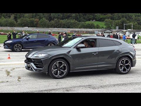 Lamborghini URUS Goes Drag Racing Against AVENTADOR SV & HURACAN PERFORMANTE!