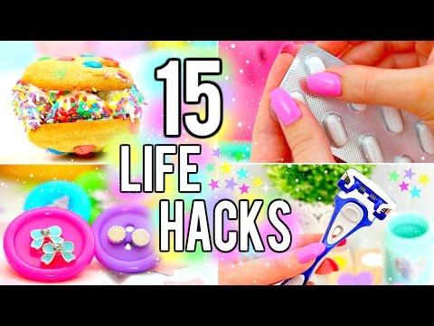 15 LIFE HACKS YOU NEED TO KNOW!