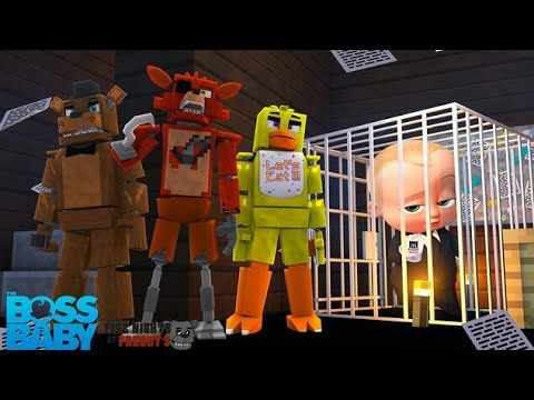 Minecraft FIVE NIGHTS AT FREDDY'S - FOXY THREATENS TO KILL THE BOSS BABY!!!! - Modded Gameplay (видео)