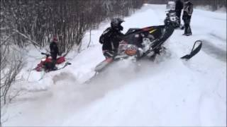 9. 2013 polaris assault switchback sawing up the pow pow and owning the ditch