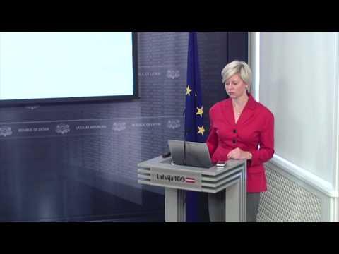Veselības ministre Anda Čakša informē medijus par ES struktorfondu atbalstu ģimenes ārstu prakšu attīstībai
