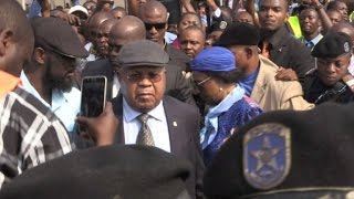 Congo's veteran opposition chief Etienne Tshisekedi returns home after a two-year absence to a warm welcome from large crowds. IMAGES