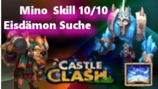 Castle Clash - Mino 10/10 - Eisdämonen Suche Video