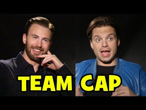 'Captain America: Civil War' Team Cap Interviews – Chris Evans, Sebastian Stan, Elizabeth Olsen, Anthony Mackie