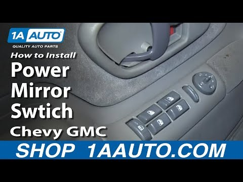 How To Install Replace Power Mirror Swtich 1996-99 Chevy GMC K1500 C1500 Suburban