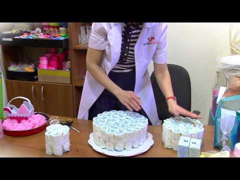 как самостоятельно сделать торт из памперсов
