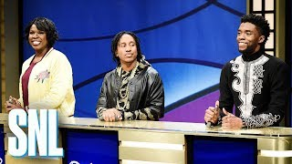 Video Black Jeopardy with Chadwick Boseman - SNL MP3, 3GP, MP4, WEBM, AVI, FLV Desember 2018
