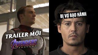 Phê Phim News: AVENGERS: ENDGAME trailer mới! | JOHNNY DEPP bị bạo hành? | JAMES GUNN trở lại GotG3