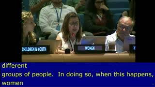 Oriana López's intervention at HLPF 2016: http://webtv.un.org