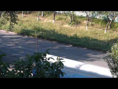 колонна ополченцев через Ровеньки 27.07