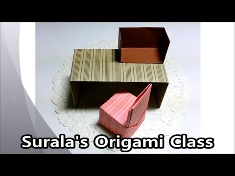 Origami – Desk, Chair, Bookshelf / 종이접기 –  책상, 의자, 책꽂이