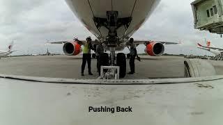 Video Percakapan Pilot dan Mekanik   Lion Air A330 Pushback Preparation at Kualanamu Airport MP3, 3GP, MP4, WEBM, AVI, FLV April 2019