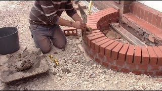 How to build a curved brick step