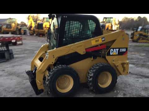 CATERPILLAR MINICARGADORAS 236DSTD1CA equipment video hzdX5EbiPjI