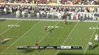 Chase Minnifield vs Georgia Tech 2011