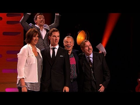 his - http://www.bbc.co.uk/grahamnortonshow Benedict Cumberbatch gets to meet his madame Tussaud's waxwork for the first time.