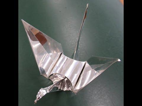金属折鶴の制作