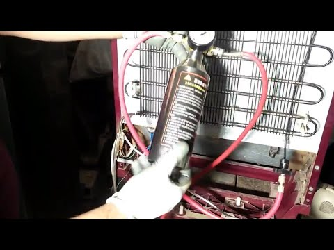 Flushing Refrigeration System with Flushing Gun Canister