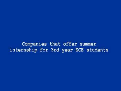 Companies that offer summer internship for 3rd year ECE students