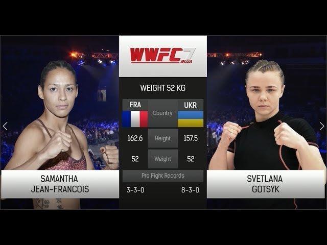WWFC7 Samantha Jean françois VS Svetlana Gotsik Weight 52