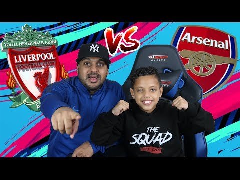 9 YEAR OLD PLAYS DAD IN FIFA 19!! LIVERPOOL VS ARSENAL!!