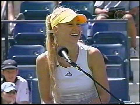 Roddick vs Agassi with Kournikova as Chair Umpire at 2003 US Open