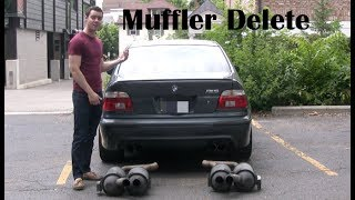 E39 BMW M5 Muffler Delete (straight pipe) Facts and Amazing Sounds