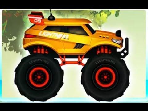 МОНСТР ТРАК - ГОНКИ в джунглях! Мультик для детей про МОНСТР ТРАК / Monster TRUCKS RACES