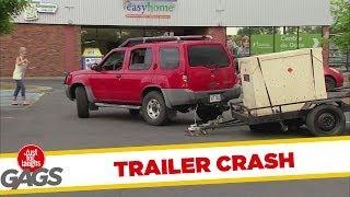 Runaway Trailer Crash