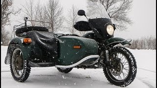 9. Winter Storm Motorcycling on a Ural - PBC2014 #1