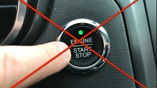 9. What happens if you push the button WHILE driving ? ( Don't try this in your own car )