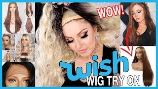 Video Trying On WISH APP Wigs! 💕💇 Lace Front & Affordable Wish Haul! MP3, 3GP, MP4, WEBM, AVI, FLV Juni 2019
