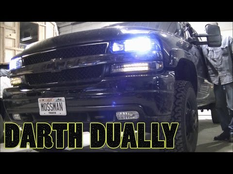 New Headlights and LED Turn/Parking Lights for my 02 Silverado Dually Duramax