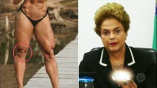 A modelo postou uma foto para exibir o corpão mas o que acabou chamando a atenção mesmo foram os joelhos, que alguns internautas apontaram serem parecidos com o rosto da ex-presidente Dilma Rousseff. Veja na Hora da Venenosa desta segunda (24).