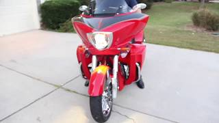 10. Sunset Red 2015 Victory Cross Country Tour Motorcycle For Sale