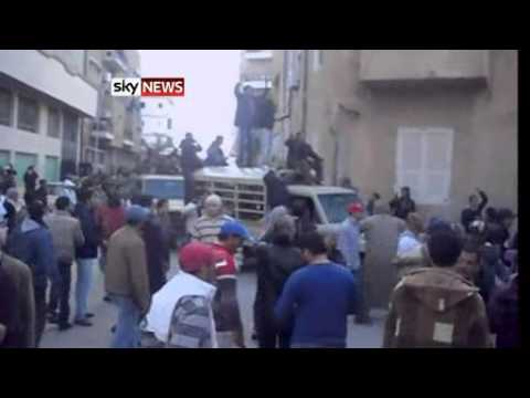 Libya  Gaddafi Speaks To Followers In Tripoli's Green Square   World News   Sky News