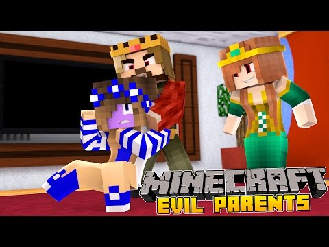 Minecraft-Little Carly-MY PARENTS TURN EVIL!! (видео)