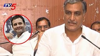 Minister Harish Rao Fires On Rahul Gandhi Comments