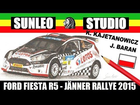 Sunleo - Rysunek - Ford Fiesta R5 - Jänner Rallye 2015 - Kajetanowicz, Baran