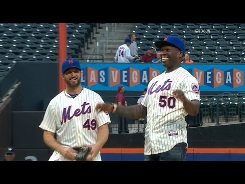 50 Cent Threw Out A First Pitch at a Cubs Game