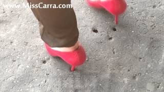 Miss Carra cardboard crush with high heels (preview) | hellovideos.net