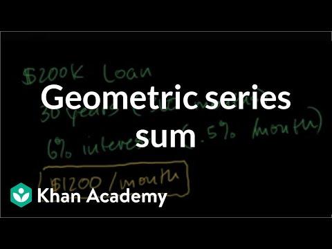 Finite geometric series word problem: mortgage | Housing | Finance & Capital Markets | Khan Academy