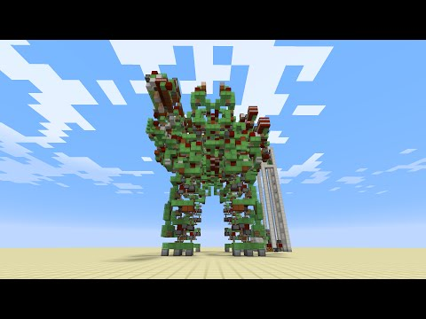 Minecraft: Mega Gargantua - Giant Controlable Battle Robot