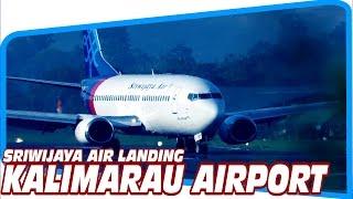 Berau Indonesia  City new picture : Pesawat Sriwijaya Air Mendarat di Bandara Kalimarau - Berau (Video Pesawat Terbang Indonesia)
