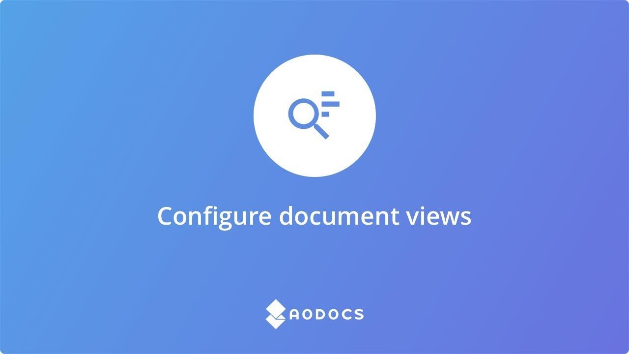 Configure document views's thumbnails