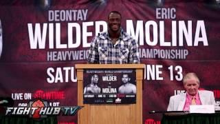 Deontay Wilder talks Eric Molina fight