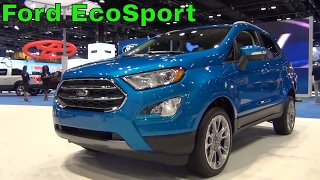 Ford looks to gain traction in the subcompact crossover segment with the new EcoSport! Be sure to check out all my videos from the Chicago Auto Show here: https://www.youtube.com/playlist?list=PLsrCk-C13kG2HPnd7p1sxKOmxUWjigXyR